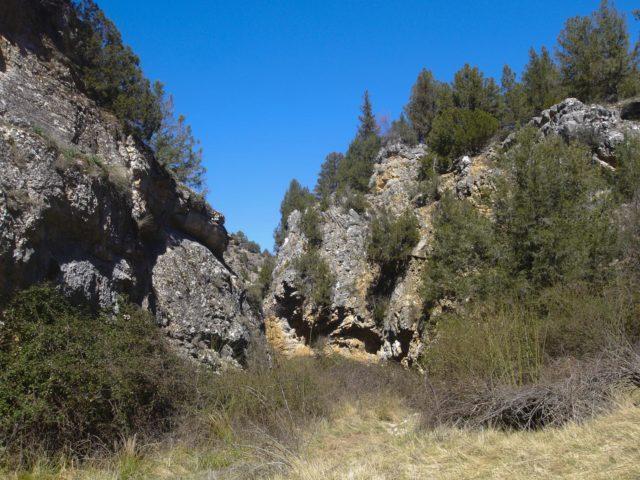 Ruta desde Escalera al Barranco del Río Bullones